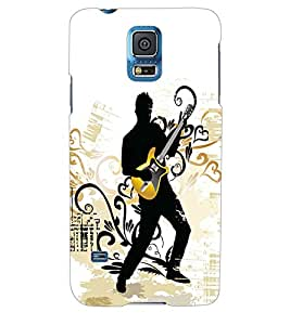 ColourCraft Music Wallpaper Back Case Cover for SAMSUNG GALAXY S5