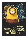Cuaderno escolar-Cuaderno (DIN A5rayado Minions Survival Of The Yel lowest 60páginas