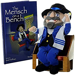 Amazon Com Mensch On A Bench Hanukkah Decor W Hardcover