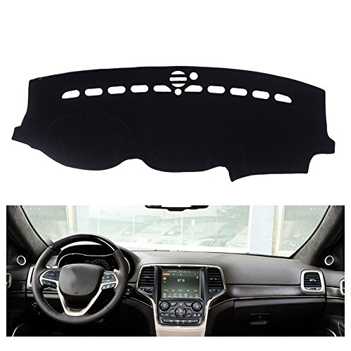 FLY5D Dashboard Cover Dash Mat Pad for Jeep Grand Cherokee 2011-2016 (Jeep Grand Cherokee 2011-2016, Black) (2013 Jeep Dash Cover compare prices)