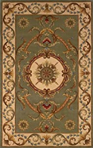Area Rug 3x5 Rectangle European Sage Color - Momeni Harmony Rug from RugPal