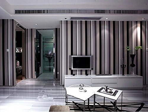 Black and white stripe wallpaper shop now clearance for Wallpaper rolls clearance