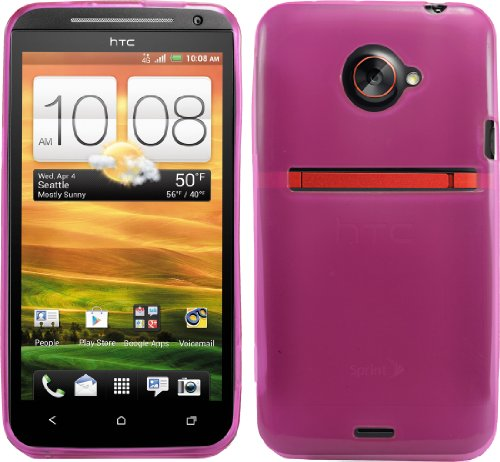Pink Protective Rubber Hard Gel Tpu Case Cover For Sprint Htc Evo 4G Lte