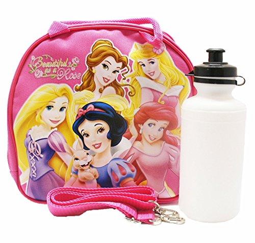 Disney Princess Lunch Bag with a Water Bottle - Hot Pink by N/A