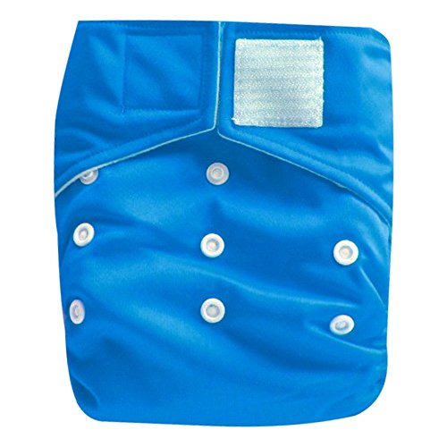 "Kawaii Baby Heavy Duty One Size Velcro Cloth Diaper W/2 Inserts ""Blue"""