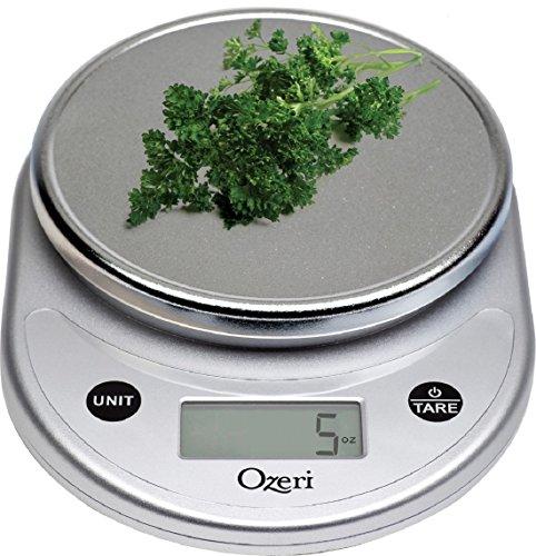 Ozeri Pronto Digital multifunción de cocina y alimentos escala, en elegante plata