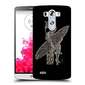 Snoogg Fish Man Designer Protective Back Case Cover For LG G3 BEAT