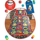 Childrens Kids Bob The Builder Red Blue Bedding Set Duvet Cover and Pillow Case