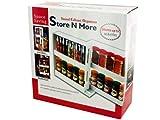 "Sliding Swivel Cabinet Spice Jar Organizer-White-10.75"" x 11"""
