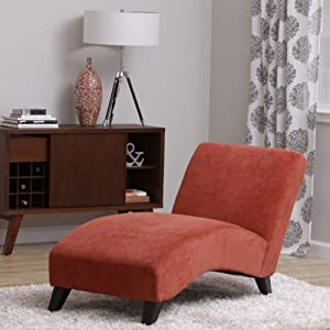 Bella Orange Paprika Chaise Lounger Living Room Bedroom Office Patio Furni
