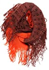 ForeverScarf Fashion 2-Tone Solid and Net Pattern Knitted