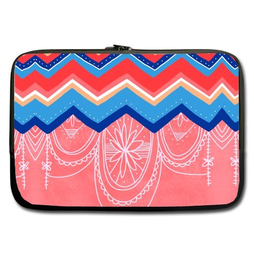 Colorful Chevron Pattern Lemon Durable Protective Laptop/Macbook Air/Macbook Pro Sleeve 17'' front-64301
