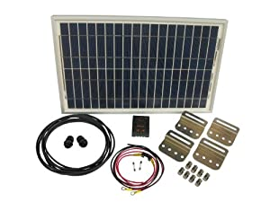 30 Watt Solar Battery Charging System Kit