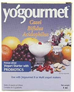 Yogourmet Casei Bifidus Acidophilus Probiotic Yogurt Starter, 1 Ounce, 6-Count Boxes (Pack of 2)