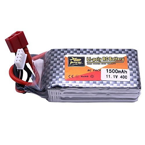 Generic 11.1V 1500mAh 3S Lipo Battery Li-polymer Discharge Rate 40C Packs with T Plug For RC Quadcopter Drone Helicopter Car Airplane (Ls Model Helicopter compare prices)
