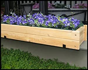 unfinished paintable cedar window box w liner and cedar bracket pair 30 inch. Black Bedroom Furniture Sets. Home Design Ideas