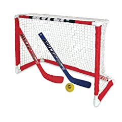 Buy Mylec Pro Style Mini Hockey Goal Set, White by Mylec