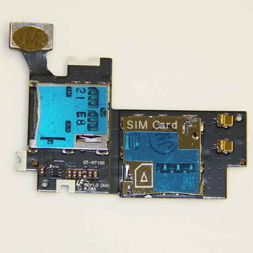 Epartsolution-Samsung Galaxy Note 2 Ii Gt-N7100 Sim Card Holder Memory Tray Slot Cable Usa Seller