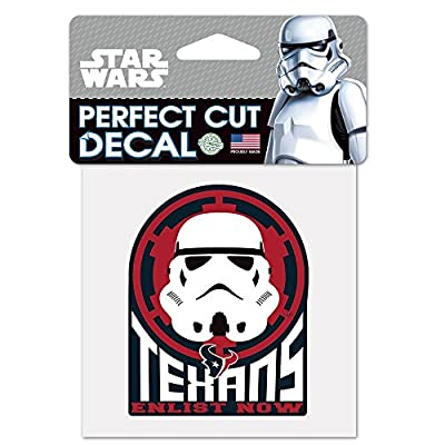 Houston Texans Official NFL 4 inch x 4 inch Star Wars Storm Trooper Die Cut Car Decal by Wincraft 402448