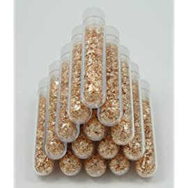 500 Filled Vials of Beautiful Brilliant Gold Leaf Flakes