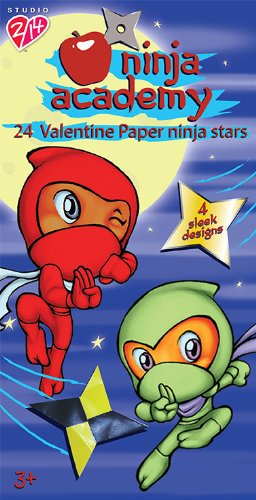 Paper Magic Ninja Academy Valentine Activity Exchange Cards (24 Count)