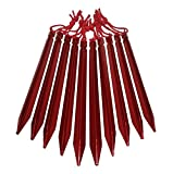 Vidalido(ヴィダリド) テント ペグ 長い23cm Y型 軽量ジュラルミン製 紐付き 10本 / 20本 収納袋付き (10本)