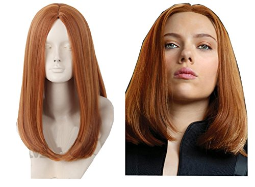 Shining Japanese Anime Wig Animation Wig Captain America 2 Black Widow Wig