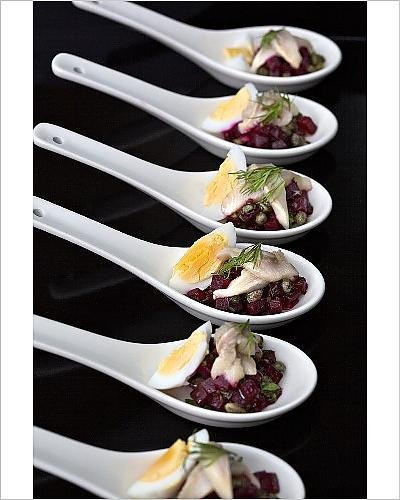 photographic-print-of-spoon-canapes-with-hering-egg-and-beetroot