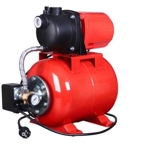 Aquamarin® Hauswasserwerk Pumpe 1.2kw (1200 Watt) 20l Fassungsvermögen Intertek GS geprüft
