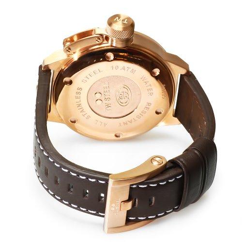 Imagen de TW Steel Hombre Piel CEO Canteen CE1018 Brown reloj esfera blanca