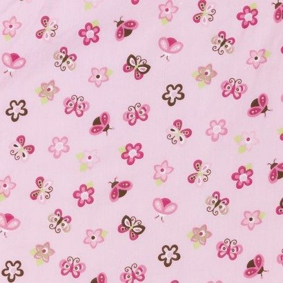Tiddliwinks Raspberry Garden Fitted Crib Sheet