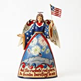 Jim Shore for Enesco Heartwood Creek Angel with Fireworks Scene Figurine, 10.5-Inch