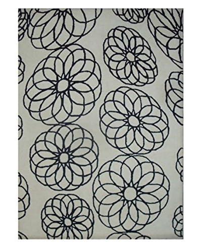 Geo Floral Rug, Grey, 5' x 8' As You See
