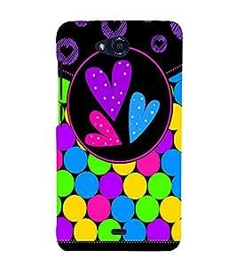 Color Bubbles 3D Hard Polycarbonate Designer Back Case Cover for Micromax Canvas Play Q355