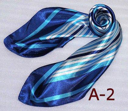 美品 シルク調スカーフ・企業制服スカーフ・60cm角・ 最短で翌日お届け 2012春のスカーフ(全10色)・中国雑貨 (A-2)