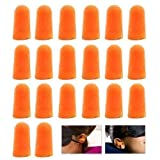 Accessotech 10 Pairs of Soft Foam Ear Plugs Classic for Sleeping Work Reusable Travel Noise