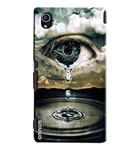 Omnam Emotion Of Tear From Eye Printed Designer Back Cover Case For Sony Xperia M4