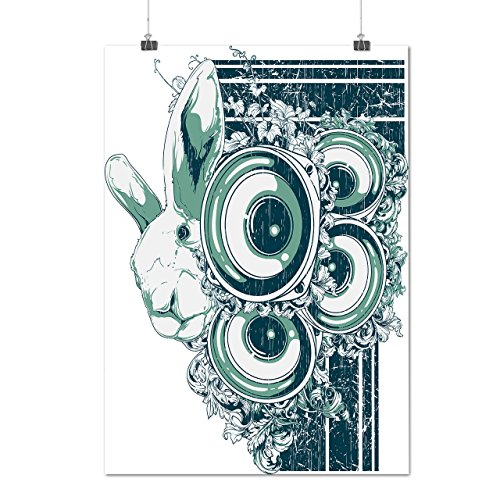 rabbit-music-system-bunny-beats-matte-glossy-poster-a3-42cm-x-30cm-wellcoda