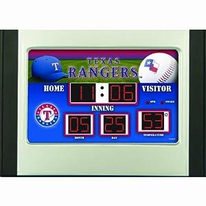 Texas Rangers Alarm Clock Desk Scoreboard by Team Sports America