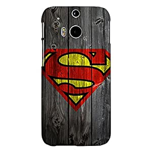 Jugaaduu Superheroes Superman Back Cover Case For HTC One M8