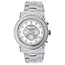 buy Iced Out Luxurman Diamond Watch With Chronograph 2Ct Escalade