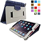 iPad Air 2 Case, Snugg™ - Smart Cover with Flip Stand & Lifetime Guarantee (Blue Denim) for Apple iPad Air 2 (2014)