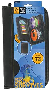 Case Logic KSW-64 CD/DVD Prosleeve Wallet, 72 Capacity (Black)