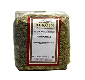 Bergin Nut Company Pepitas Raw, 16-Ounce Bags (Pack of 4)