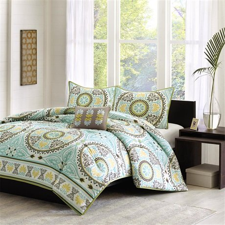 Mizone Suri Comforter Set - Blue - Twin front-829106