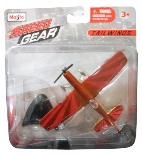 Maisto Speed Gear Tailwinds Red Stunt Plane - 1