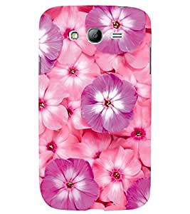 Printvisa Pink And Purple Floral Pattern Back Case Cover for Samsung Galaxy Grand Neo::Samsung Galaxy Grand Neo i9060::Samsung Galaxy Grand Neo Plus::Samsung Galaxy Grand Neo Plus i9060i