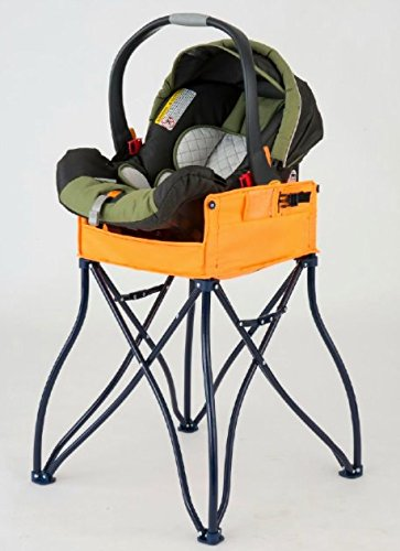 goto 2in1 portable travel high chair orange by phoenix baby foldable space - Space Saving High Chair