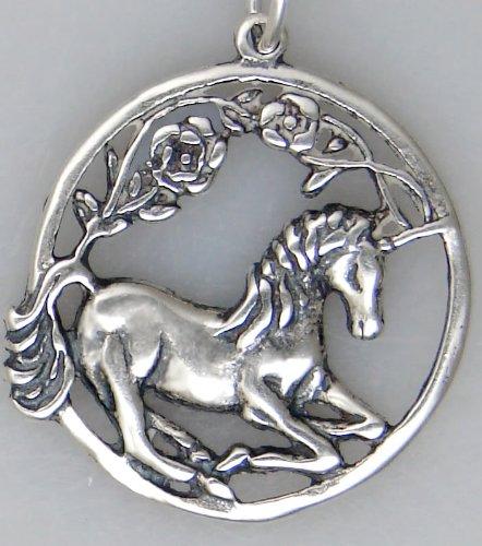 Sterling Silver Delicate Unicorn Pendant