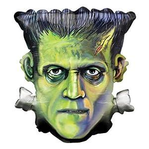 "Single Source Party Supplies - 25"" Frankenstein Head Halloween Shape Mylar Foil Balloon"